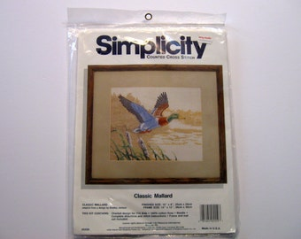 Mallard Duck,  Cross Stitch Kit, Pattern, Simplicity Counted Cross Stitch by NormasTreasures on etsy.