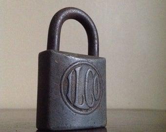 Holiday Sale. Antique Industrial ILCO Lock