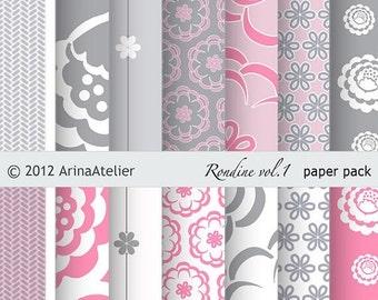 Rondine vol.1 Modern Digital Patterned Digital Paper Pack