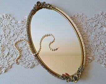 Vintage mirror tray Dresser tray Vanity tray Matson mirror