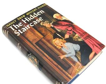 nancy drew mystery story  ...  vintage book circa 1930   ...  the hidden staircase