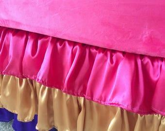 Purple Ruffled Crib Skirt, Hot Pink Crib Skirt, Baby Dust Ruffle, Crib Skirt, Gold Crib Skirt, Girl Crib Skirt, Crib Dust Ruffle