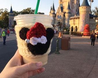 Disney coffee cup cozy, coffee sleeve, Minnie Mickey Mouse, disney vacation, fall autumn coffee cozy, disney christmas coffee cozy gift