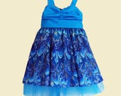 Little girl dress RESERVED FOR STEPHANIE P., girl's dress, birthday dress, size 4 dress, party dress, ruched bodice