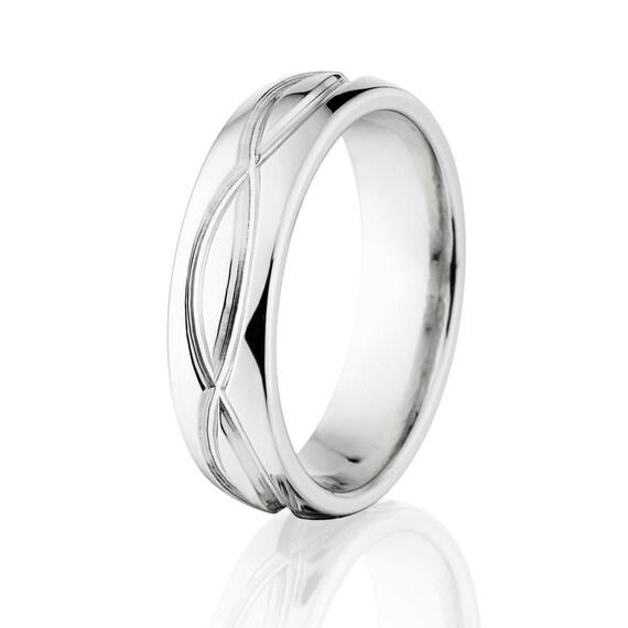 New 6mm INIFINITY Symbol Titanium Ring, Free Sizing Band 4-17: 6HR-INFINITY-T8
