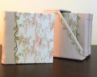 Hand Bound Books 3 Mini Hard Bound Books in Leather Book Case