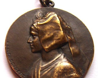 1914-18 WW1 FRANCE ALSACE 3D Bronze Medal signed A.Lauth-Bossert French Medal