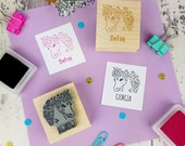 Personalised Children's Unicorn Rubber Stamp  - Personalized Rubber Stamp - Custom Stamper - Unicorn Rubber Stamp - Gift for Unicorn Lover