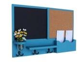 Mail Organizer -  Message Center - Chalk Board - Cork Board -  Coat Rack - Mason Jar - Coat Hooks
