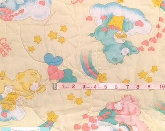 Yellow Vintage Care Bears Baby Blanket