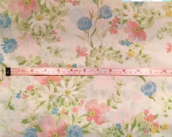 Vintage Pale Pink and Blue Floral Pillowcase