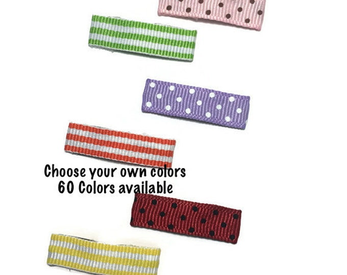 25- 30mm Dots, Stripes Lined Snap Clips