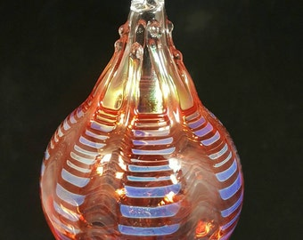 Blown glass ornament...ruby red lace by Erin Cartee