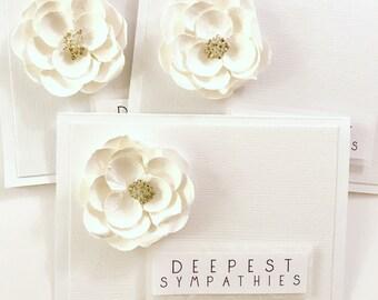 Custom Sympathy Cards for Tim . Sympathy . White . Flowers