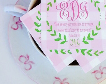 Wreath scripture tags