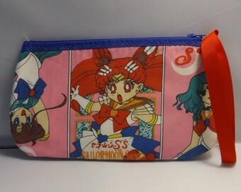 Sailor Moon  Wristlet / Pouch -- Handmade  OOAK Anime'  Japanese   Sailor Moon Supers
