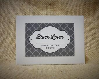 Black Linen Shea Butter Soap Bar