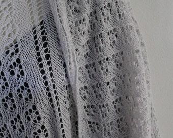 Dove Grey Lace Shawl