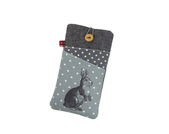 Galaxy Phone Case for Girls, Nexus 5X, Android 7 Case, S8 Plus Pouch, Moto G5 Plus, Bunny Phone Cover, LG G6 Case, Mobile Phone Holder