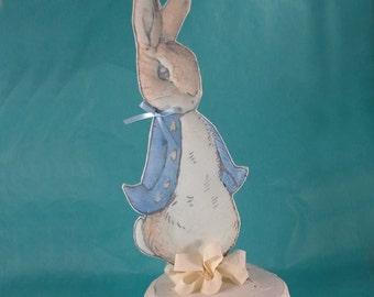 Jumbo Shabby Chic Peter Rabbit, fabric Peter Rabbit birthday or shower party decoration J132