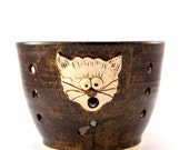Cat Attack - Really Big Yarn Bowl for Chicks with Sticks - Ready to Ship