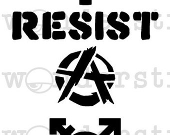 MiniMoley Stencil - Subversive Symbols