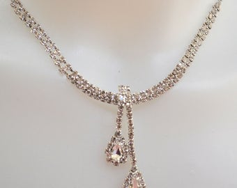 Bridal crystal Necklace,  Wedding Necklace, Bridal Accessory, Wedding Jewelry, Rhinestone Necklace, Bridal Jewelry, prom jewelry
