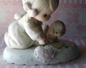 Precious Moments Figurine,Growing in Grace,Age 8,1995