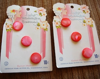 Pink Buttons Bright Pink Hot Pink Buttons Lady Washington 1/2 inch