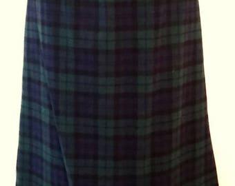 Pendleton womens skirt size 12 blue plaid wool