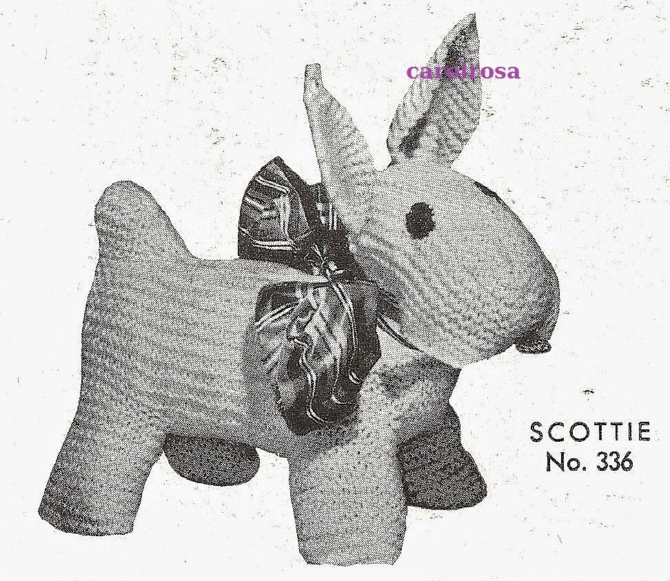 Knitting Patterns For Stuffed Dogs : Knitting Pattern Scottie Dog Plush/Plushie Stuffed Dog Toy