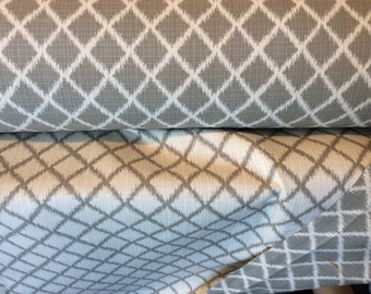GREY Tan White Ikat HARLEQUIN OUTDOOR Upholstery Fabric, 36-02-23-0117