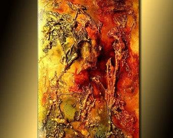 Canvas Art Painting Original Art, Modern Art, Texture Art, Metallic, Abstract Art, Contemporary Painting By Henry Parsinia, 36x24