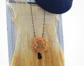 Gypsy black Stevie Nicks styledress, bohemian Festival maxi dresses, altered clothing, romantic lace dress, true rebel clothing