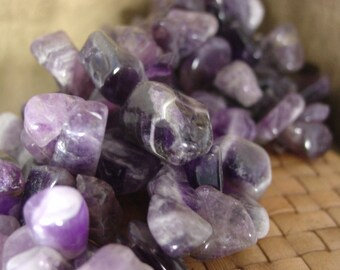15 inch strand Top Drilled Amethyst Extra Large Chips and Nuggets