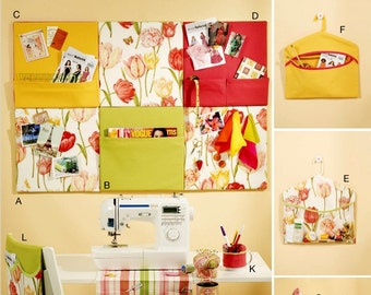 Sewing Room Organizers Pattern, Pockets Seat Cushion Pattern, Sewing Room Decor Pattern, Butterick Sewing Pattern 5767