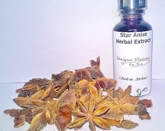 ON SALE Star Anise Seed Extract, 1 oz, herbal extract, herbal tincture, herbal remedy, natural remedy,  Unique Visions by Jen