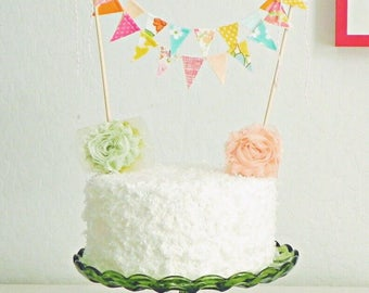 Birthday Cake Topper / Baby Shower Cake Bunting / Wedding Cake Topper / Colorful Smash Cake Topper / Carnival Theme Party / Vintage Circus
