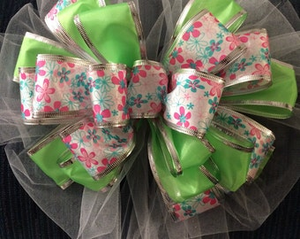 Big Bow Baby Shower Boy Girl Unisex Wedding Bridal Shower Multicolored Big Wreath Party Decor