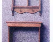 Table & Wall Shelf Kit 1:12 Scale