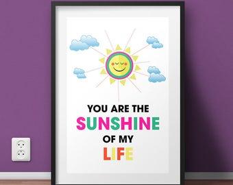 Sunshine of my Life Art Print
