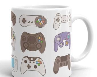 Personalized Gamer Teacher Gift, Retro Video Game Controller Mug, Funny Coffee Mug, Programmer Cup, Engineer, Nerd Nurse Mug, Boss's Gifts