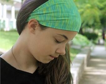 Bandanna Head Wrap, Neon Green Headband, Sport Headscarves, Motorcycle Head Cover, Bright Green Headband for Big Head (#1213) S M L X
