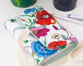 Floral Journal Notebook. Unlined Journal. Small Travel Journal Diary. Gift for Women. Gift for Girlfriend. Anniversary Gift.