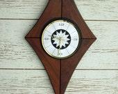Atomic Style Wall Clock - mid century - vintage clock  - wall clock