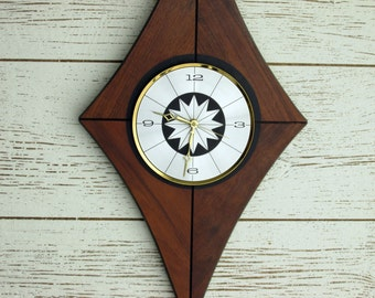 Atomic Style Wall Clock - mid century - vintage clock  - wall clock