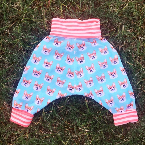 Childrens unisex corgi sog harem pants (fits sizes 6 months to 4 years)