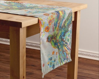 The Colors Of Peace II Dove original Art Table Runner