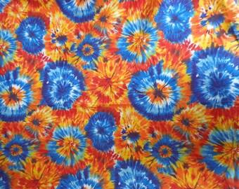 Tie Dye , Starburst Pattern, Cranston Print Works Fabric One Yard Plus 23 Inches