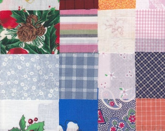 Fabric Precut 3 Inch Squares - 100 Pieces - Cotton Material 4 Charm Quilting ~ Scrapbooking ~ Piecing ~  Miniature Projects, Variety Pack 3C